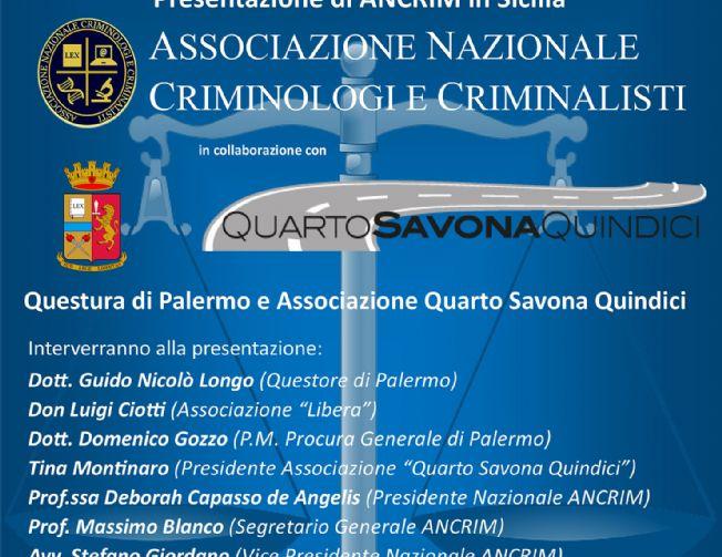 Convegno: Presentazione ANCRIM in Sicilia, 28/10/2015