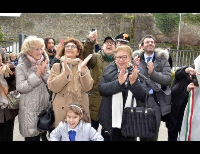 Una targa ad Antonio Montinaro, Vito Schifani e Rocco Dicillo,